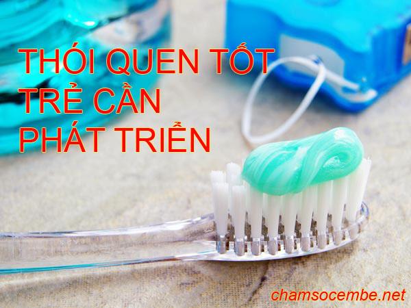 Đánh răng, thói quen tốt cần phát triển ở trẻ